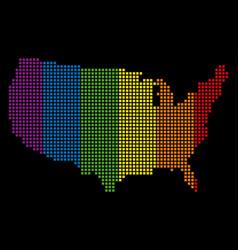 spectrum pixel lgbt usa map vector image