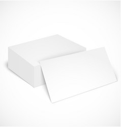 Stack of business cards with shadow template vector image