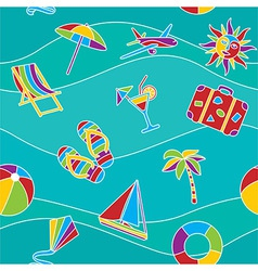 vacation seamless pattern vector image
