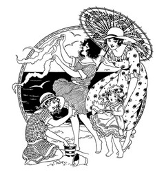 vintage engraving vector image