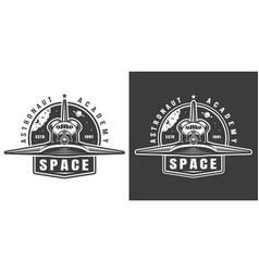 vintage monochrome space label vector image