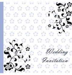 Vintage retro Wedding invitation vector