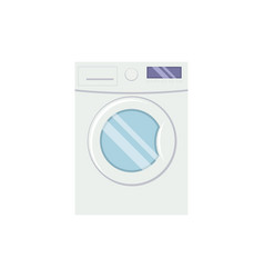 Washing mashine in flat style vector