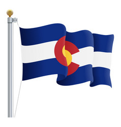 waving colorado flag isolated on a white vector image
