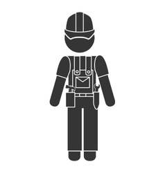 worker construction male icon vector image