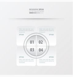 rectangle presentation design white color vector image
