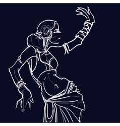 Tribal fusion gypsy dancer vector