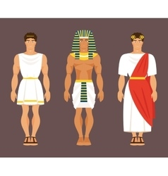 Ancient Greek Egyptian and Roman vector image
