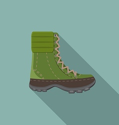 Flat design modern of trekking boot icon camping vector image vector image