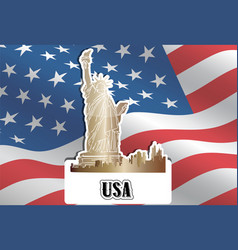 usa united states of america vector image