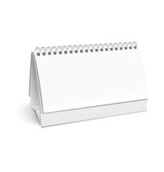 Blank paper desk spiral calendar vector image vector image