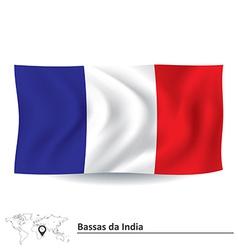 Flag of bassas da india vector