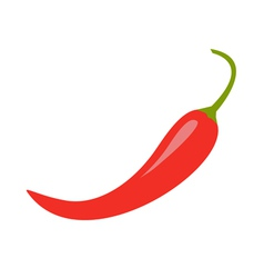 Hot Red Chili Jalapeno Pepper Icon Isolated vector image