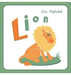 Letter L - Lion vector image vector image
