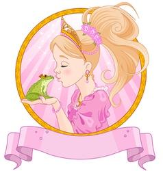 Princess and Frog vector image vector image
