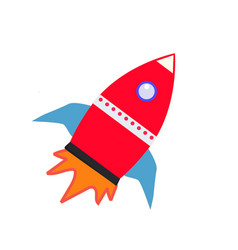 rocket icon on white background rocket sign vector image