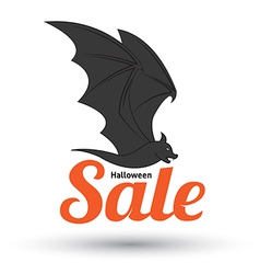 Sale text with bat for halloween vector image