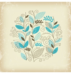 floral composition on old paper vector image vector image