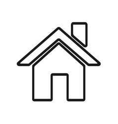 home icon logo in modern line style vector image