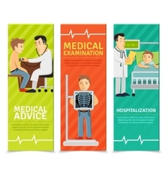 Medical Examination Banners vector image vector image