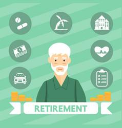 retirement vector image vector image