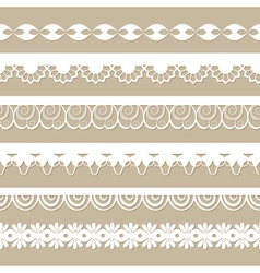 seamless paper laces vector image vector image