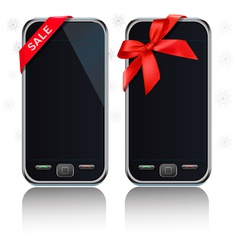 touch-screen mobile phones vector image