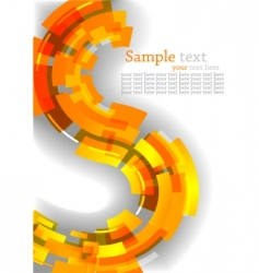 Abstract background with orange line vector