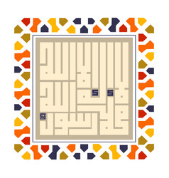 Arabic or islamic calligraphy translation no god vector