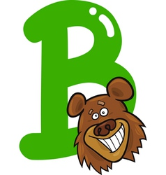 B for bear vector image
