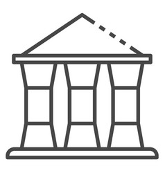 bank building icon outline style vector image