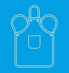 Blacksmiths apron icon outline vector