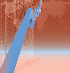 blue arrow graph vector image