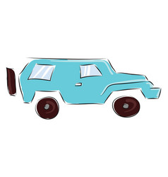 blue jeep vector image