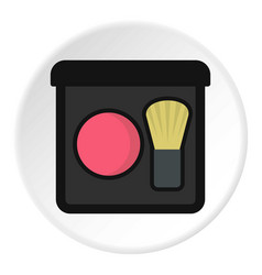 Blush icon circle vector