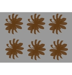 brown flowers-01 vector image