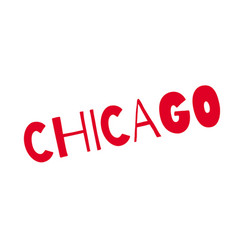 Chicago rubber stamp vector