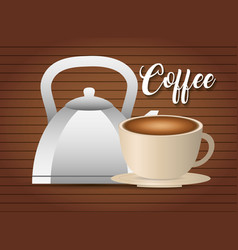 Coffee drinks design vector