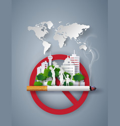 Concept no smoking day world vector