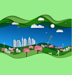 concept of eco friendly and save the environment vector image