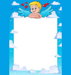 Cupid thematics frame 1 vector