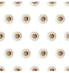 cute golden sun seamless pattern vector image vector image