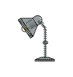 Desk lamp equipment office vector