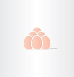 Eggs icon logo symbol vector