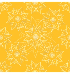 Ethnic flower seamless pattern vector