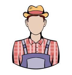 farmer icon cartoon vector image