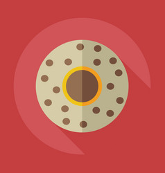 Flat modern design with shadow icons saucer vector