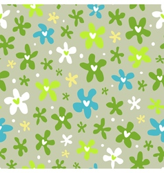 Floral seamless pattern with little bright flowers vector image