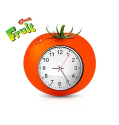 Fruit Clock Design vector