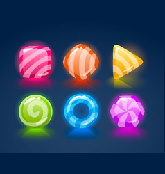 Game match icon square set in different colors vector